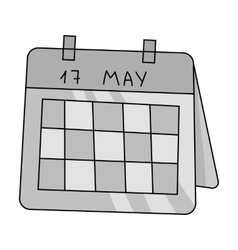Calendar icon in monochrome style isolated on vector