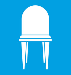 Chair icon white vector