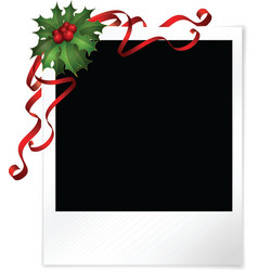 Christmas photo vector