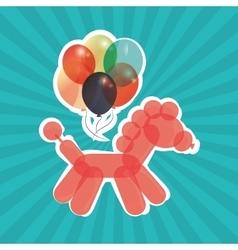 Colored balloons icon vector
