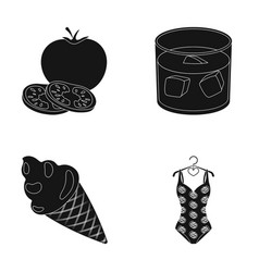 Cooking dessert and other web icon in black style vector