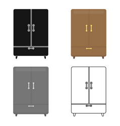 cupboard icon of for web and vector image