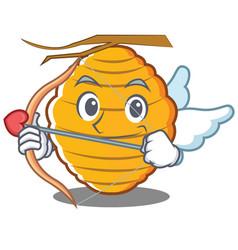 Cupid bee hive character cartoon vector