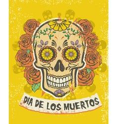 dia de los muertos poster vector image vector image