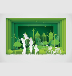 eco and world environment day with happy vector image
