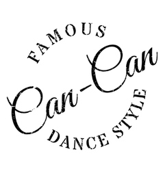 Famous dance style can-can stamp vector