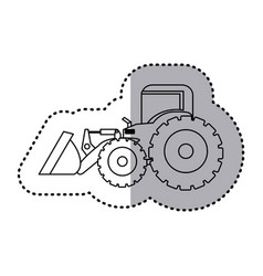 Figure backhoe loader icon vector