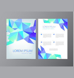 Flyer brochure abstract design 2 sides vector
