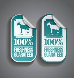 Food sticker lamb vector