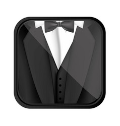 Formal suit cloth icon vector