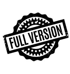 Full version rubber stamp vector