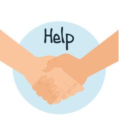 Handshake human help icon vector