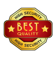 High Security Best Quality Logo High Security vector image vector image