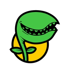 monster plant vector image