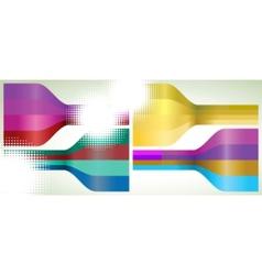 multicolor lines vector image vector image