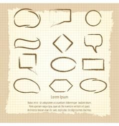 Paintbrush speech frames on vintage background vector image vector image