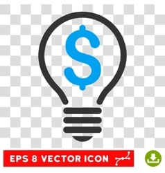Patent bulb eps icon vector