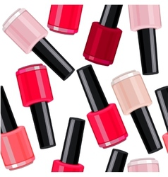 Seamless pattern with nail varnishes vector image vector image