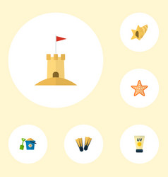 set of season icons flat style symbols with pail vector image vector image