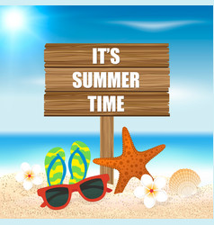 Summer holiday background season vacation vector