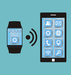 Synchronization between smart watch and smart vector