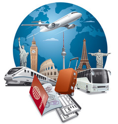 Travel and journey vector