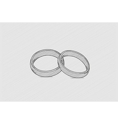 two rings vector image vector image