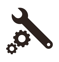 Wrench and gears icon vector image