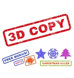 3d copy rubber stamp vector