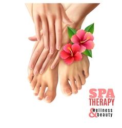 Pedicure Manicure Spa Salon Poster vector image