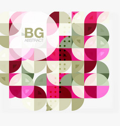 abstract background of circle elements vector image