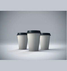 Paper coffee cups mock-up vector