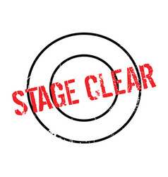 Stage clear rubber stamp vector