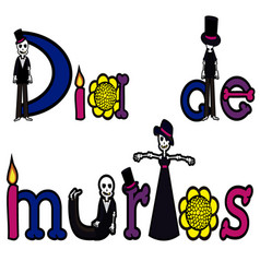 Day of the dead letters 2 vector