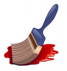 paintbrush icon and red color vector image
