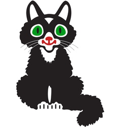 A black kitten vector
