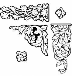 Baroque clip-art vector