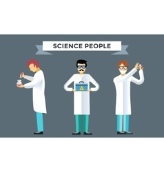 Science laboratory people set vector