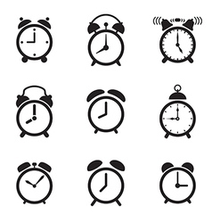Alarm clock icons vector image