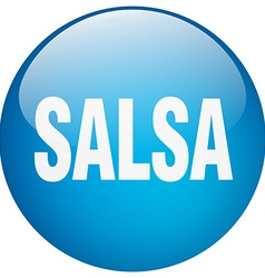 salsa blue round gel isolated push button vector image