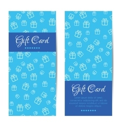 Gift cards banners boxes pattern vector