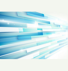 abstract blue and white rectangles motion vector image vector image