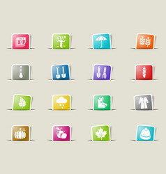 Autmn icon set vector