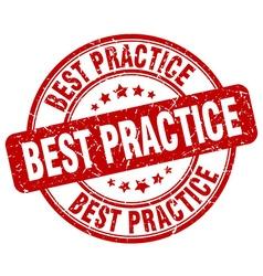 Best practice red grunge round vintage rubber vector