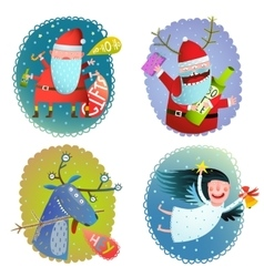 Christmas or new year winter holidays greeting vector
