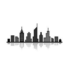 Cityscape with reflection vector image vector image