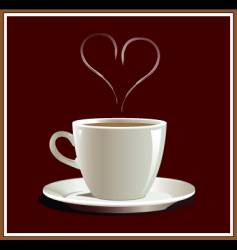 Coffee heart vector