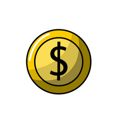 Coin digital money to video game console vector