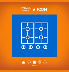 Cooking surface icon vector