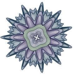 design guilloche background vector image